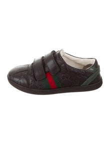 4640aa323b9 Gucci. Boys  Leather Web-Accented Sneakers