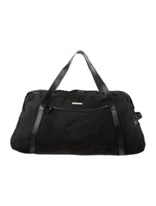 97d9a23a9c01 Gucci. Leather-Trimmed Nylon Duffle Bag
