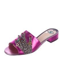 69a8ad717a0 Gucci. 2016 Wangy Embellished Slide Sandals