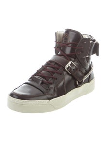 ceb7f861197 Gucci. Leather High Top Sneakers