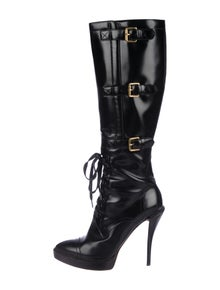 48cec3b9e58 Gucci. Leather Platform Boots