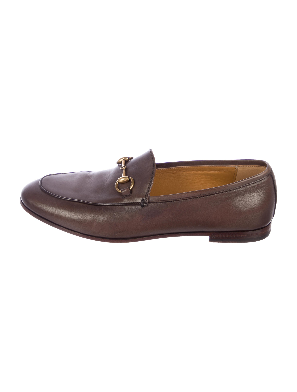 e914e446cc9 Gucci Leather Horsebit Loafers - Shoes - GUC306303