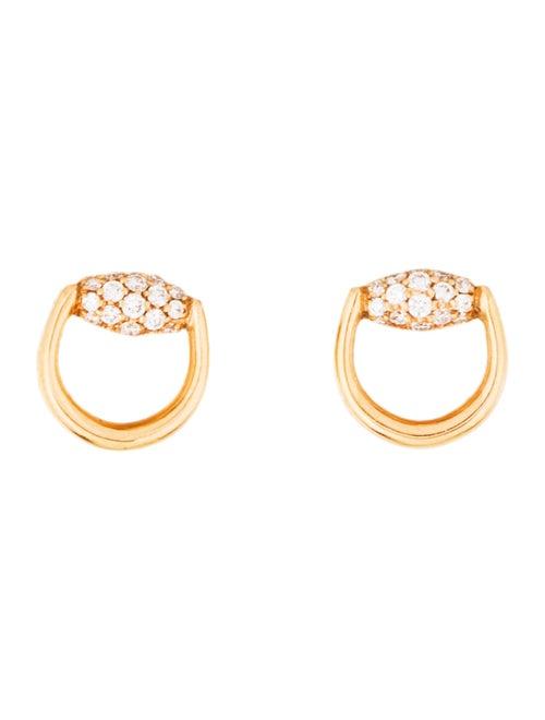 5a1530ae7f3 Gucci 18K Diamond Stud Earrings - Earrings - GUC306641