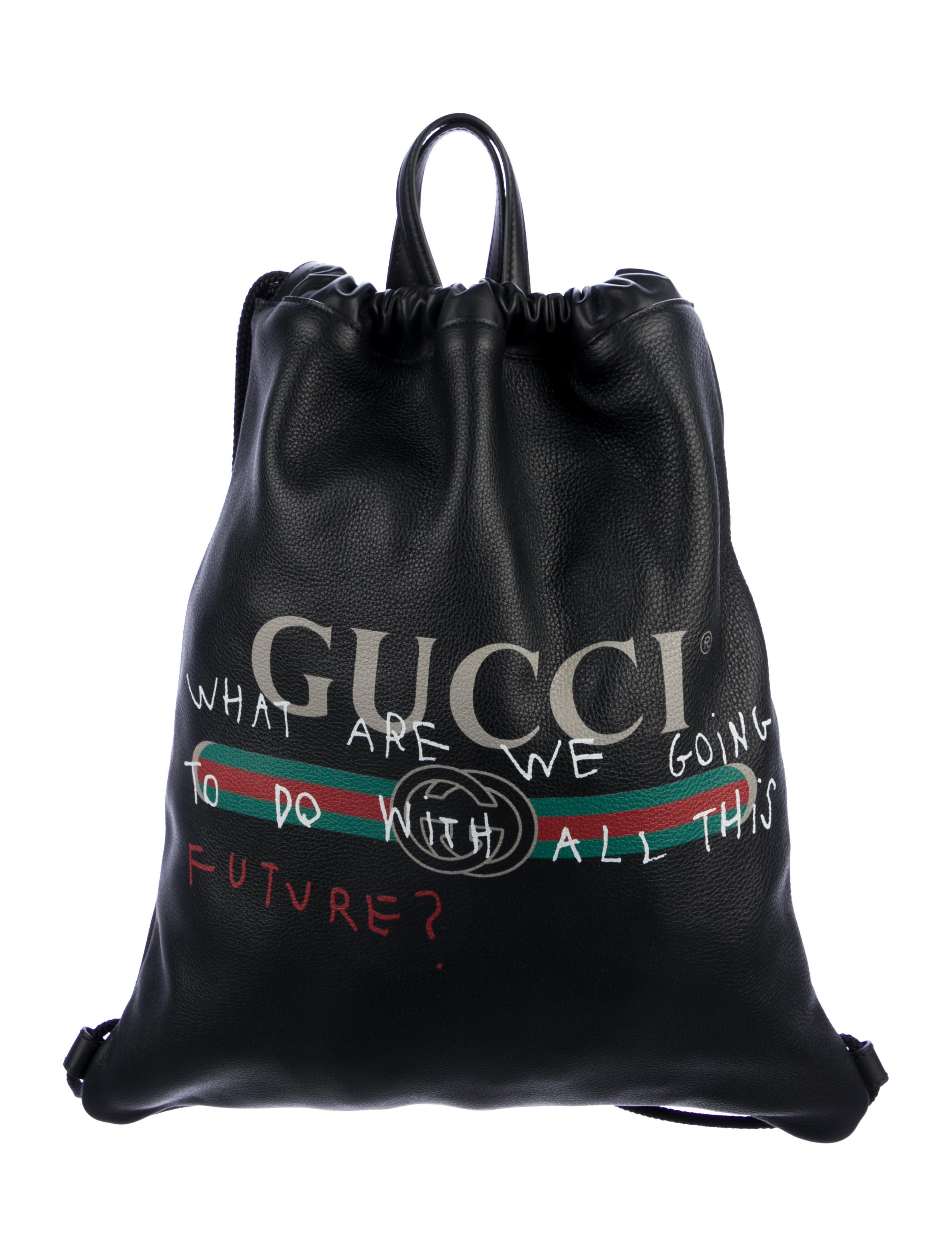 7d994ef08ed0 Gucci Coco Capitán Logo Drawstring Backpack - Handbags - GUC307362 ...
