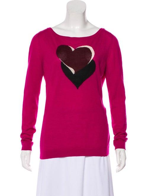 Gucci Cashmere Intarsia Sweater Magenta