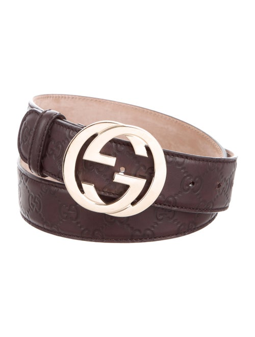 c1aede043659 Gucci Signature GG Leather Belt - Accessories - GUC309403 | The RealReal