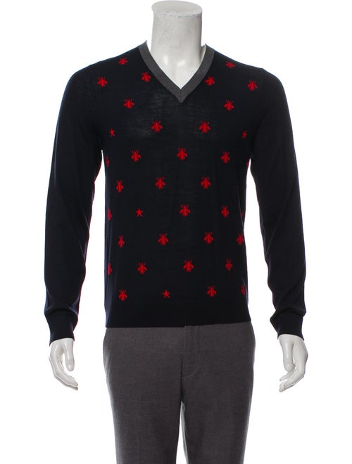 bdb29ee8e31d Gucci Bee & Star Wool Sweater - Clothing - GUC310303 | The RealReal