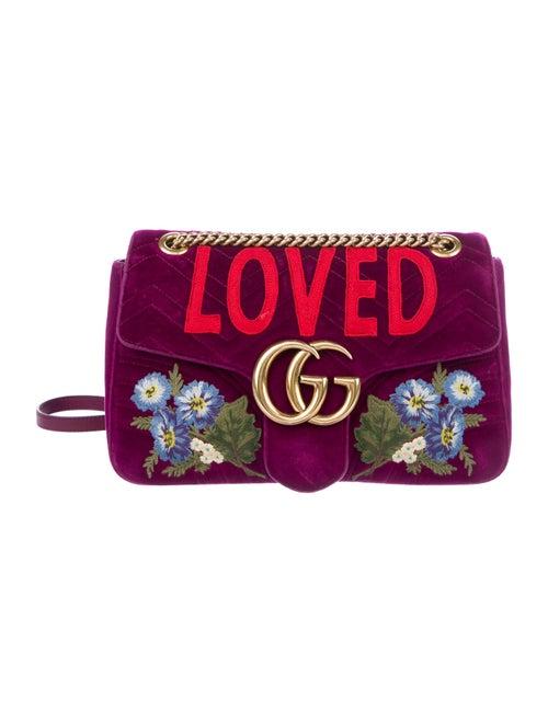 1b1e6ace4fb0 Gucci Medium Velvet GG Marmont Matelassé Shoulder Bag - Handbags ...