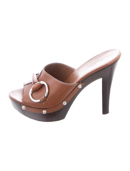 c2c19b6d6 Gucci Peep-Toe Horsebit Sandals - Shoes - GUC311436 | The RealReal