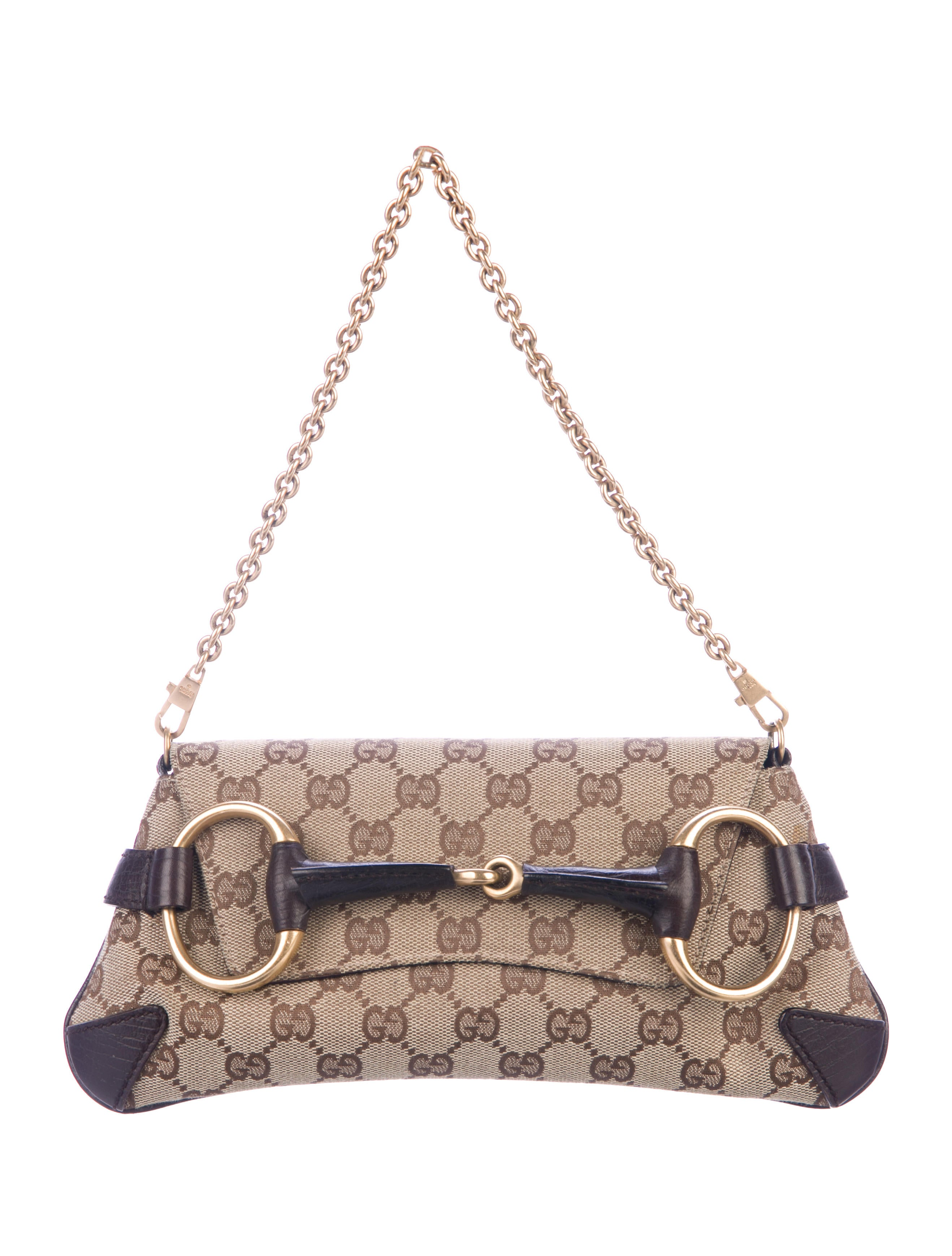 f080fca9b59 Gucci Small Horsebit Chain Clutch - Handbags - GUC312036 | The RealReal