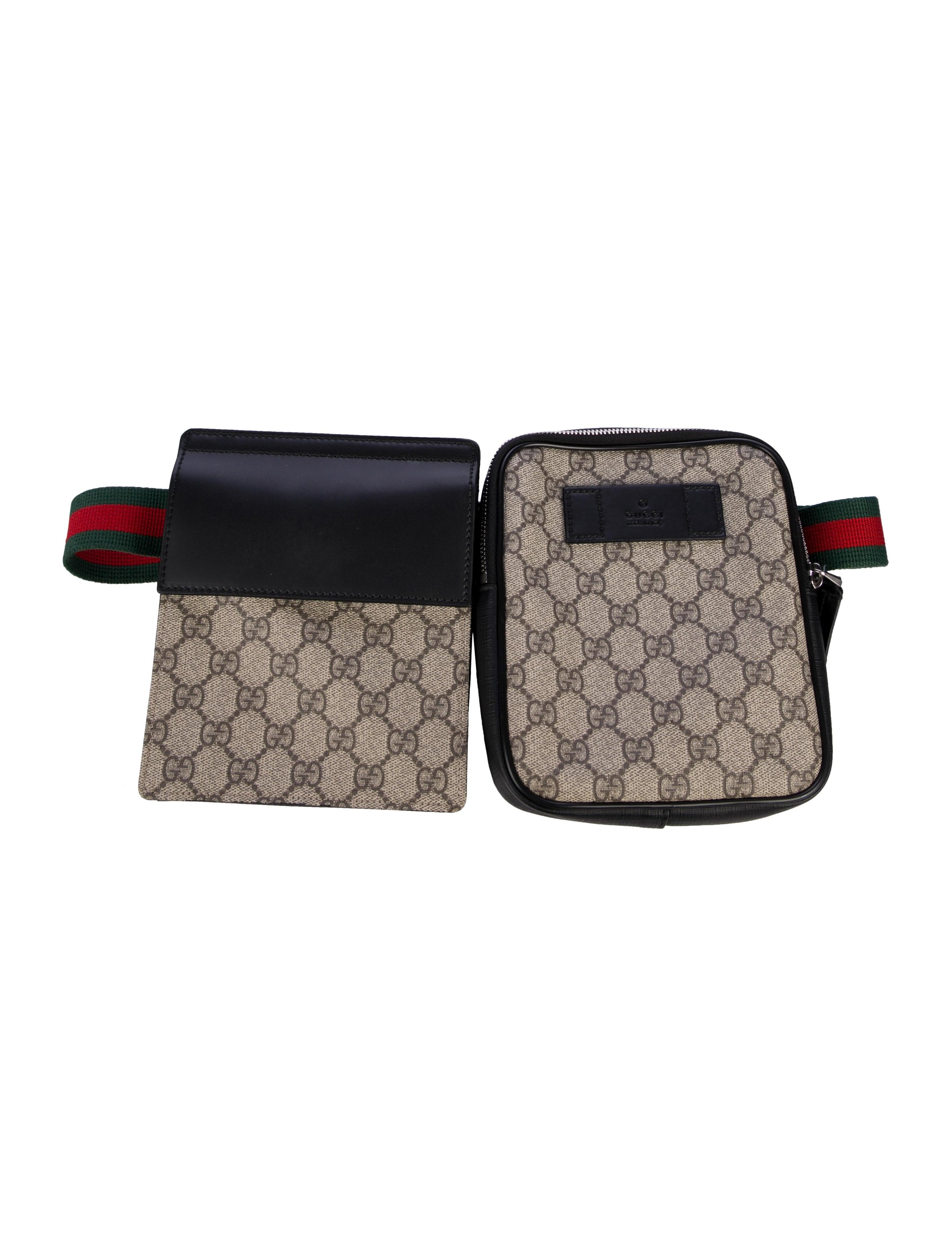 b87dc0002 Gucci GG Supreme Belt Bag - Bags - GUC312444 | The RealReal