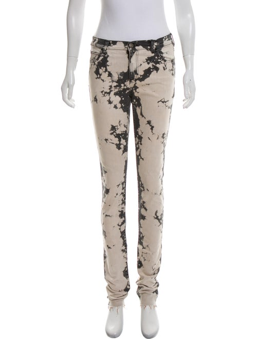 Gucci Printed Mid-Rise Jeans Grey