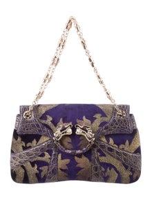5640ef6c8 Gucci. Crocodile-Trimmed Dragon Bag