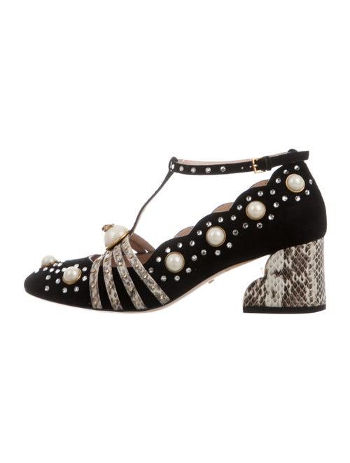 Gucci Ofelia 2016 Embellished Pumps Black