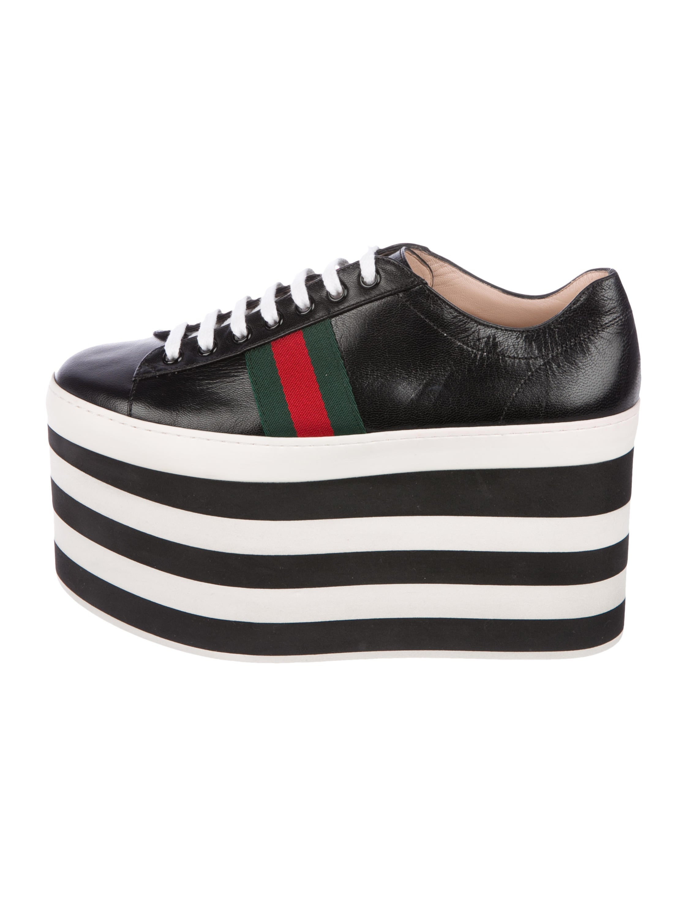 Leather Platform Ace Sneakers
