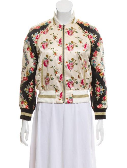 509142817 Gucci 2017 Silk Bomber Jacket - Clothing - GUC329308   The RealReal