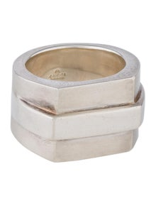 364defe4d Gucci. Wide Geometric Ring