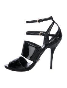 b10cdabfd Gucci. Patent Leather Ankle Strap Sandals. Size: 8. $225.00