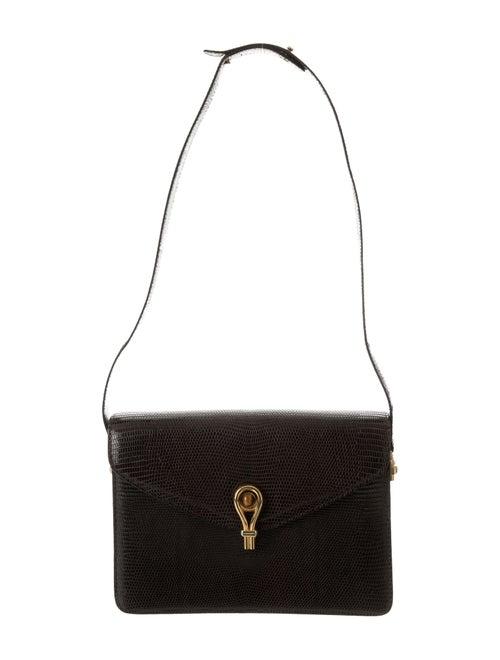 Vintage Lizard Shoulder Bag by Gucci