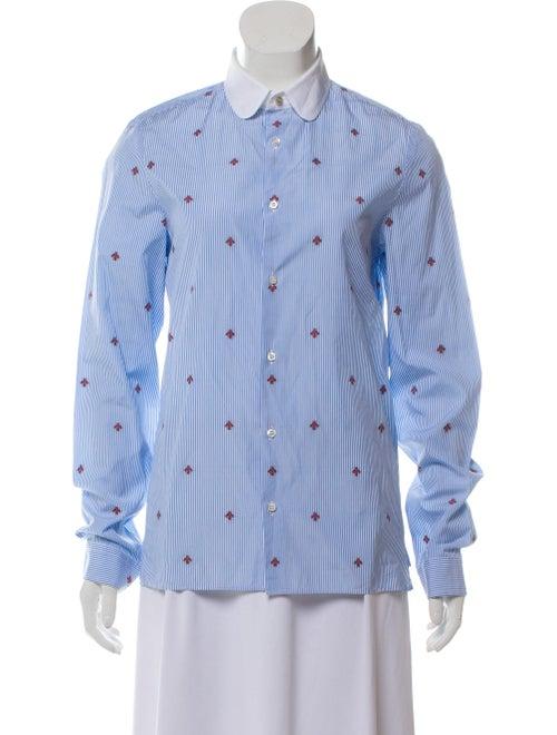 Gucci 2019 Bee Fil Coupé Shirt blue