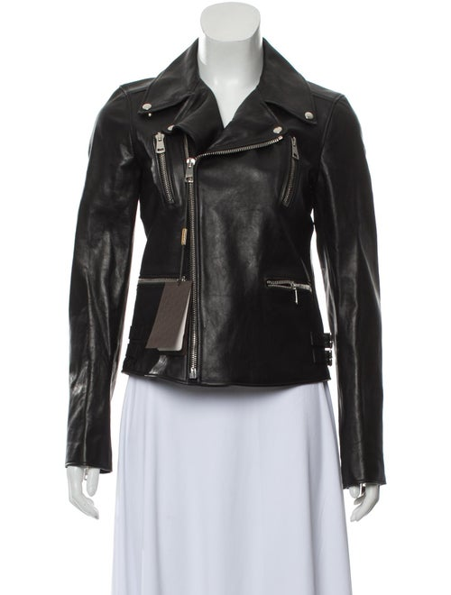 Gucci Leather Moto Jacket Black