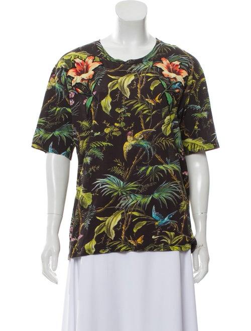Gucci Tropical Print T-Shirt brown