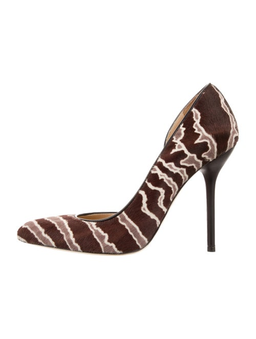 Ponyhair Pointed Toe Pumps by Gucci