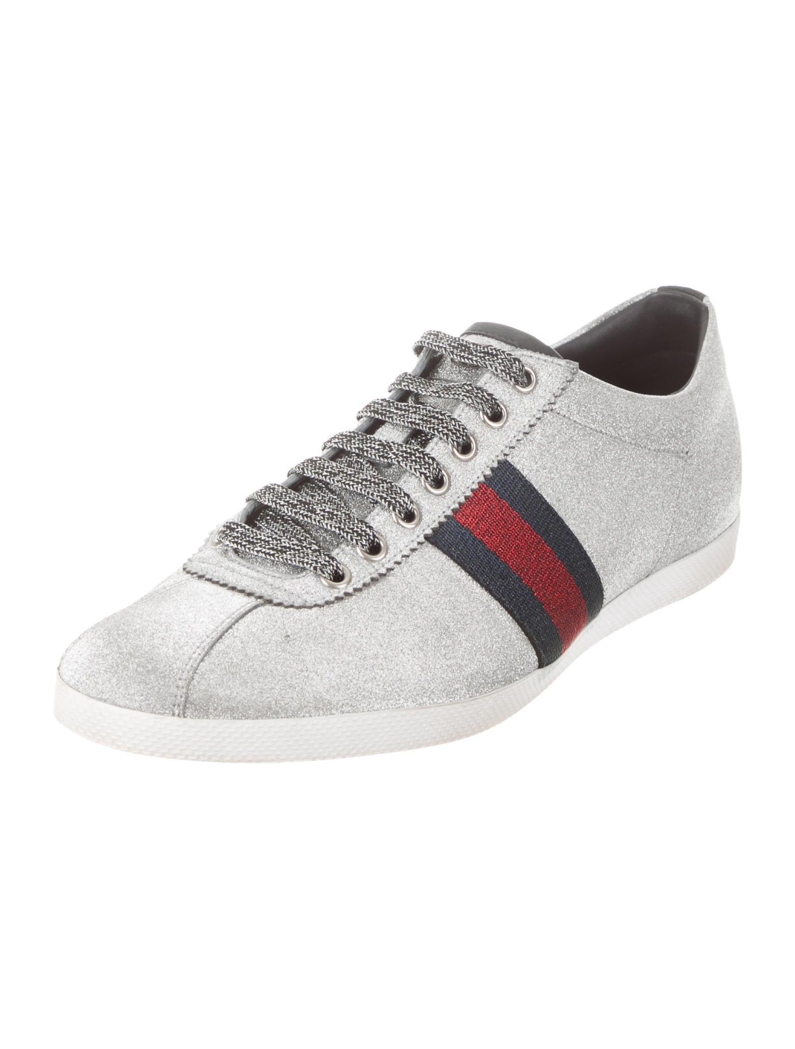 Gucci Bambi Metallic Trainer Sneakers