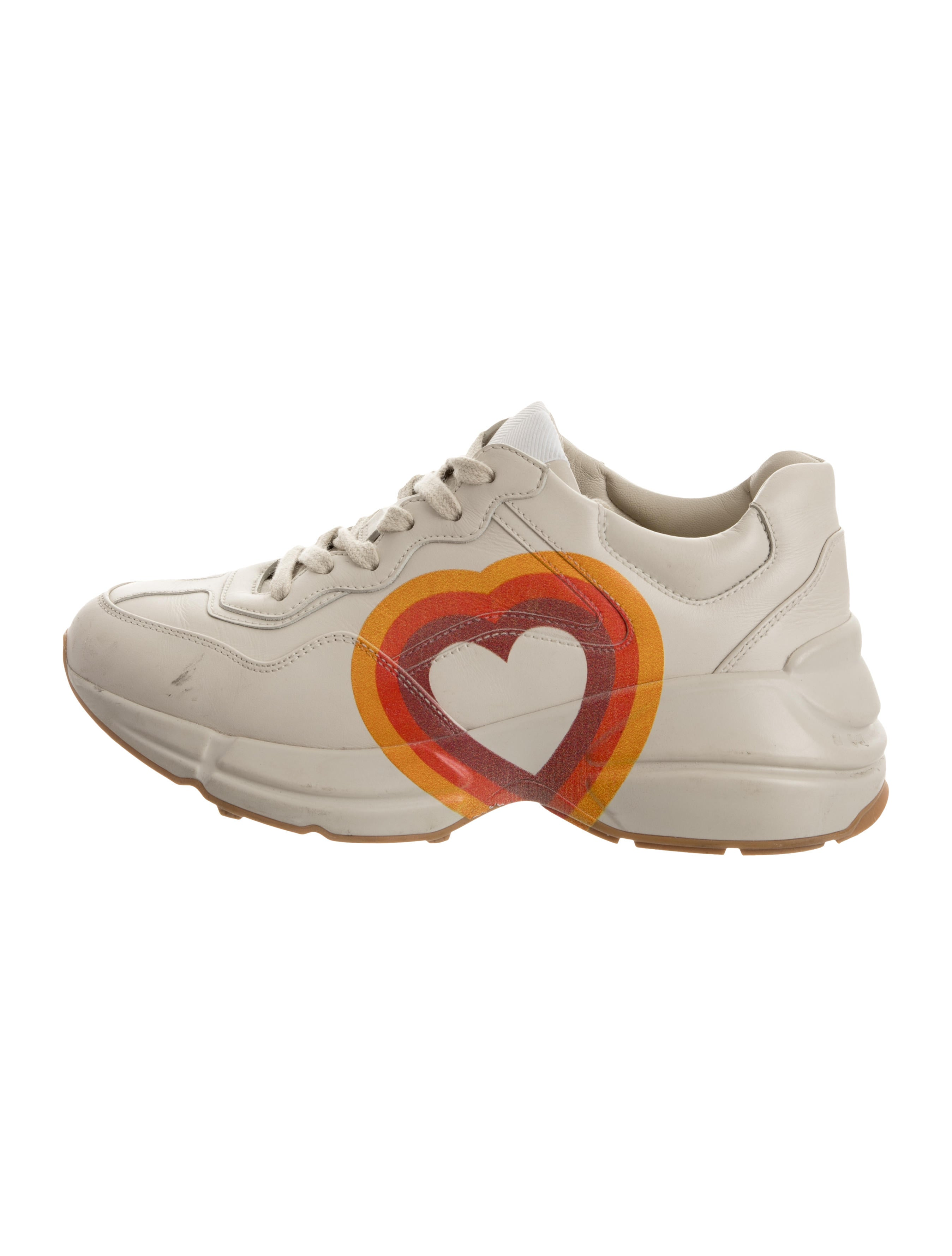 Gucci Rhyton Heart Sneakers - Shoes