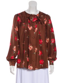 Gucci Silk Floral Blouse