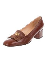 GG Vintage Leather Loafer Pumps image 2