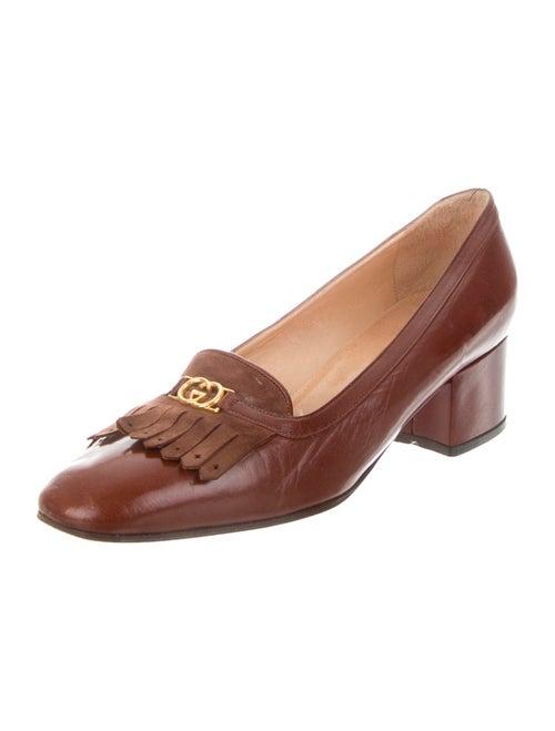 GG Vintage Leather Loafer Pumps