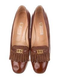 GG Vintage Leather Loafer Pumps image 3