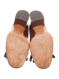 GG Vintage Leather Loafer Pumps image 5
