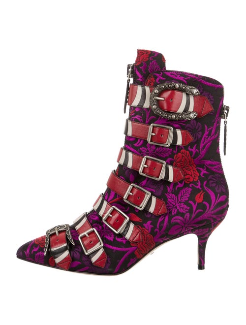 Gucci Susan Kingsnake Ankle Boots Purple