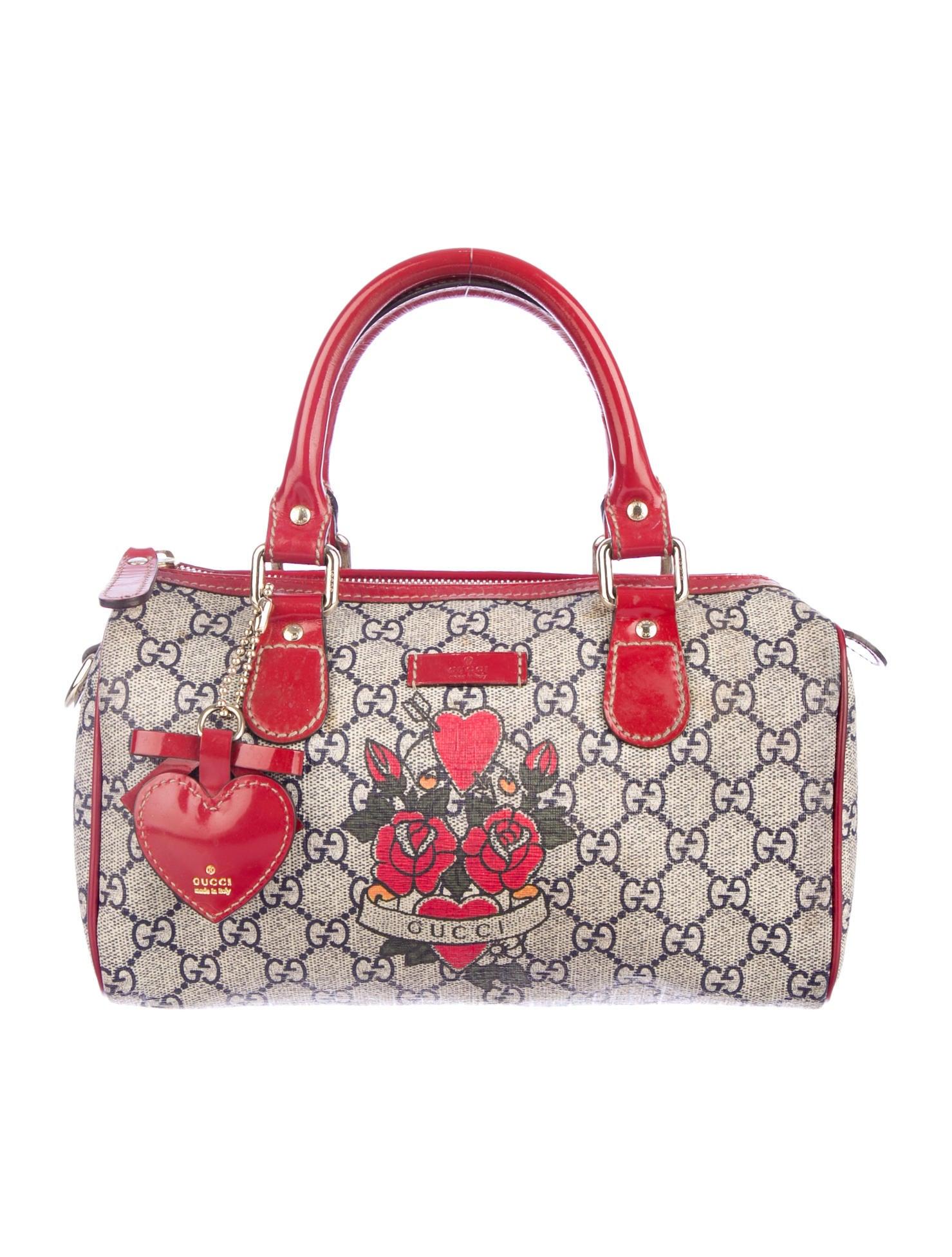 6267d88a485 Gucci Mini Tattoo Heart Joy Boston Bag - Handbags - GUC37454
