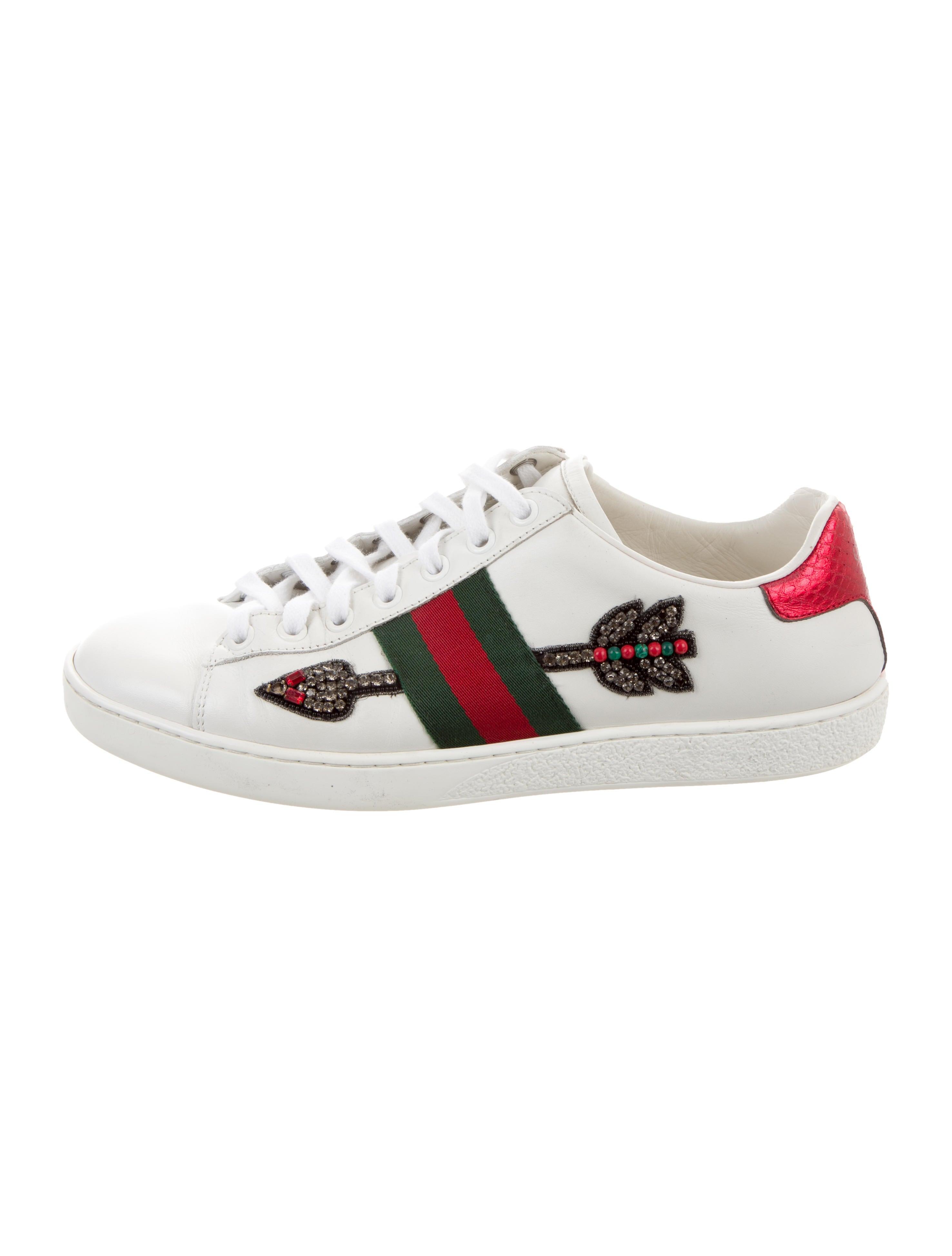Gucci 2019 Bleeding Arrow Ace Sneakers