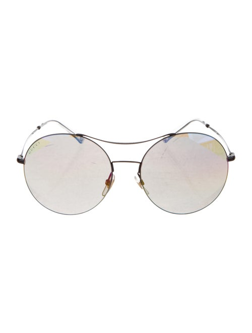 Round Reflective Sunglasses by Gucci
