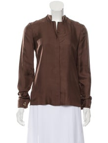 Gucci Silk V-Neck Blouse w/ Tags