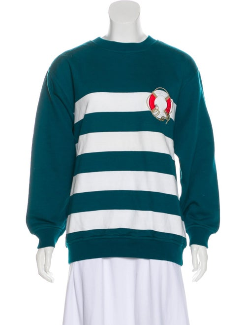 Gucci Embroidered Striped Sweater