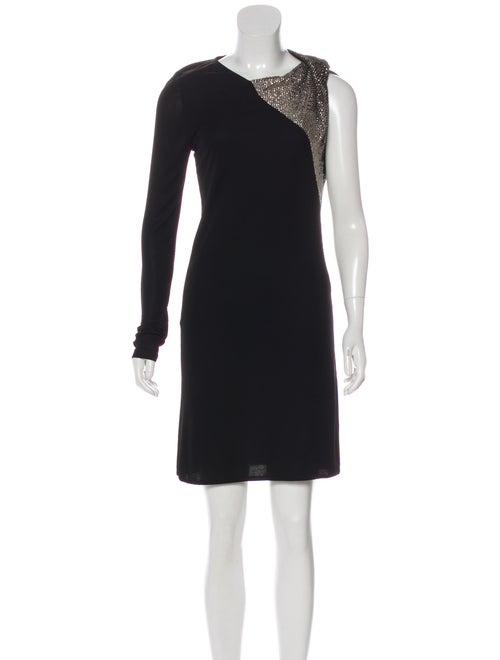 Gucci Embellished Asymmetrical Dress Black
