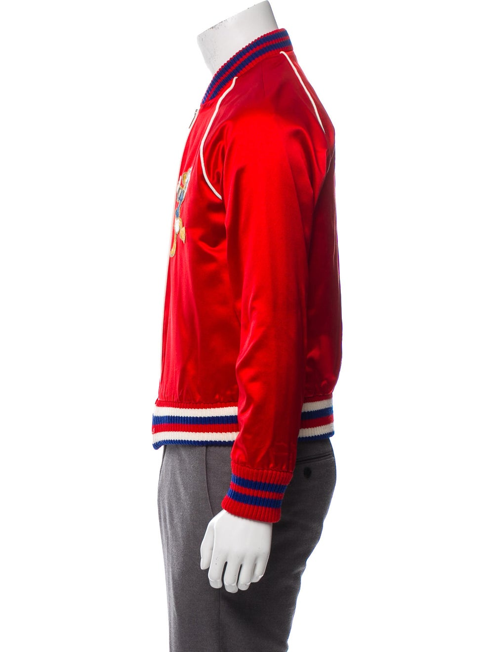 Gucci Silk Donald Duck Bomber Jacket red - image 2