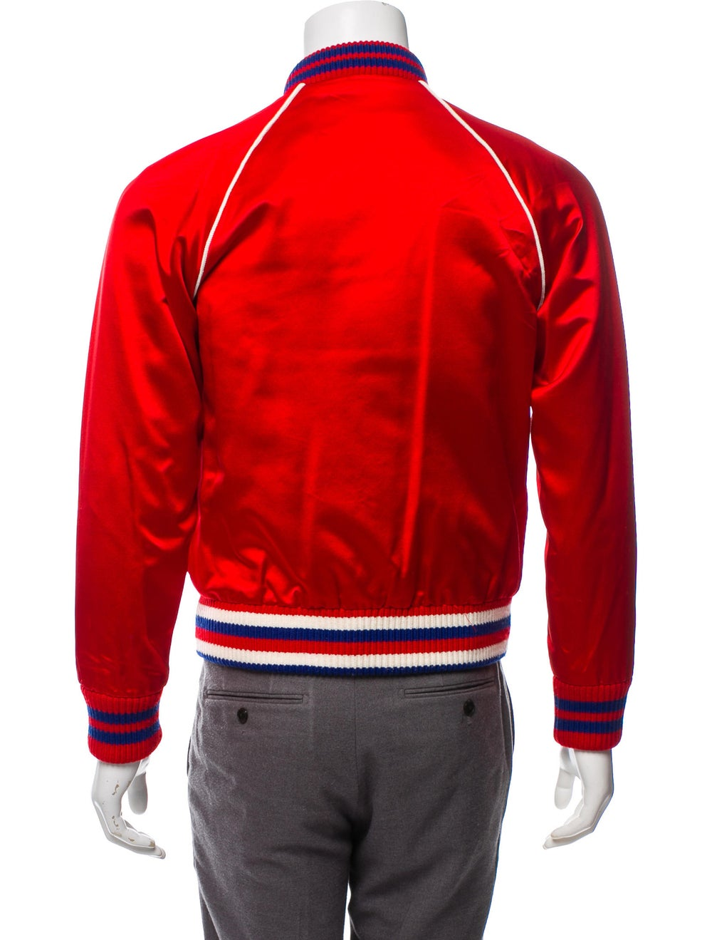 Gucci Silk Donald Duck Bomber Jacket red - image 3