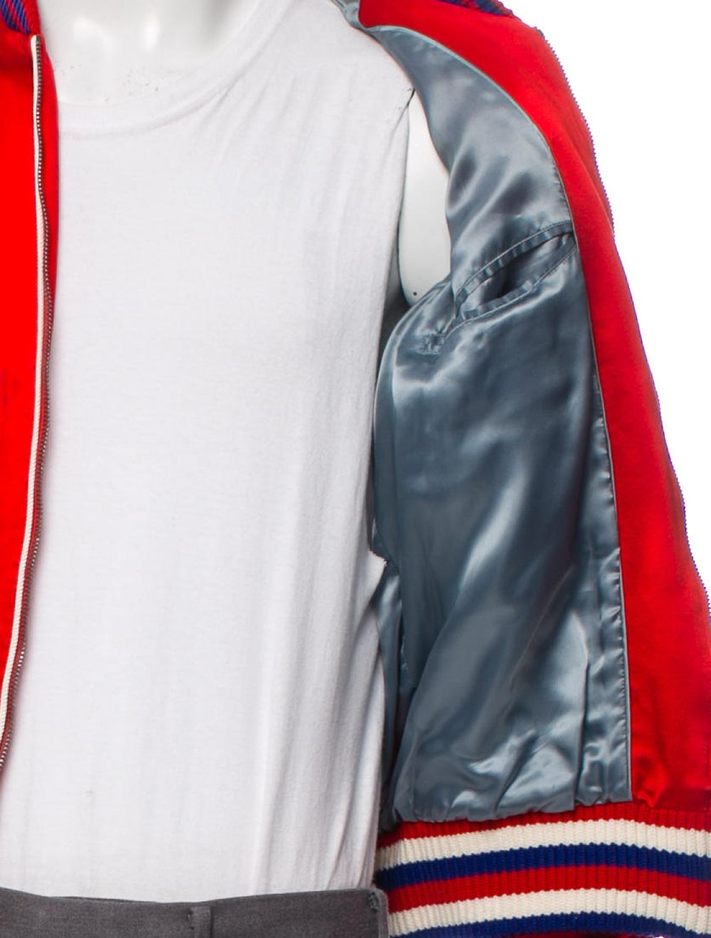Gucci Silk Donald Duck Bomber Jacket red - image 4