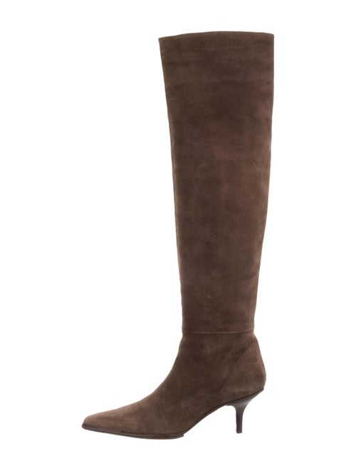 Gucci Suede Over-The-Knee Boots