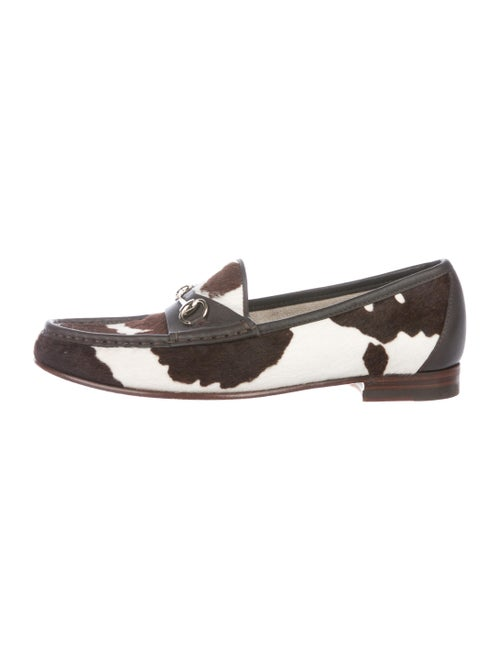 Gucci Horsebit Cow-Print Ponyhair 1953 Loafers Bro