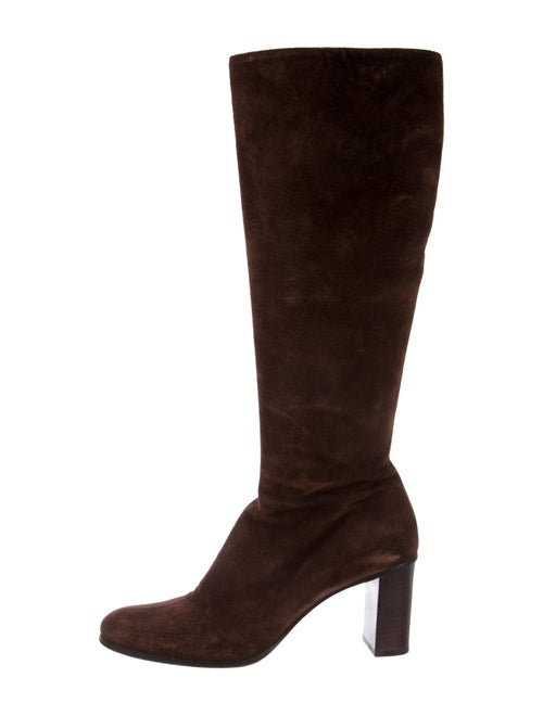 Gucci Suede Knee-High Boots