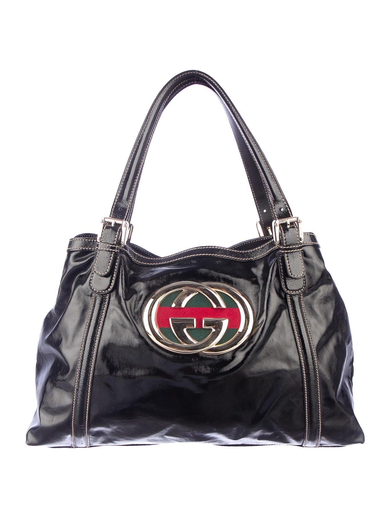 15fe8456fad0 Gucci Dialux Britt Tote - Handbags - GUC40998   The RealReal