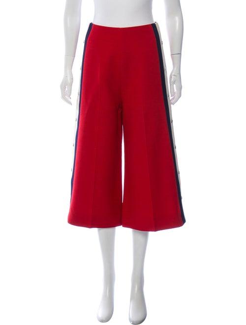 Gucci Culotte Web-Trim Pants Red