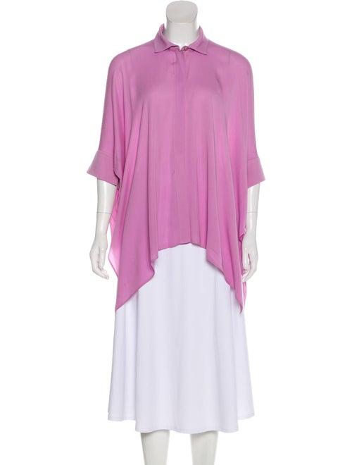 Gucci Silk Button-Up Blouse Purple